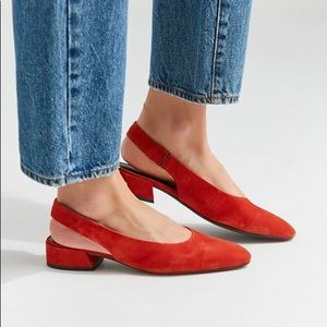 Vagabond Shoemakers red Joyce sling back sandals
